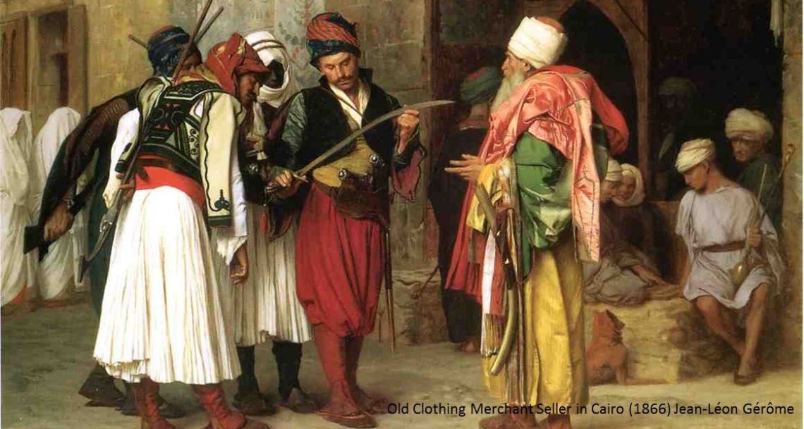 Old Clothing Merchant in Cairo (1866) Jean-Leon Gerome